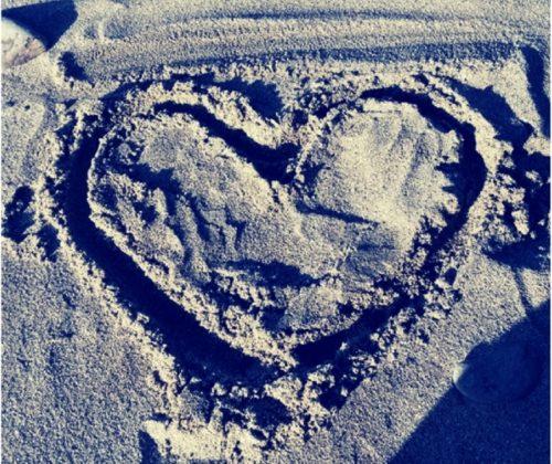 Srdíčko v písku
